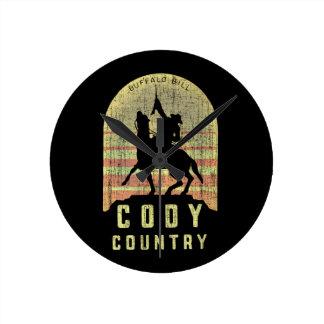 Cody Land Wyoming Runde Wanduhr