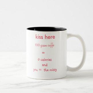 coffe Kuss-Tasse Zweifarbige Tasse