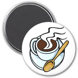 Coffe Schalenemblem Runder Magnet 7,6 Cm
