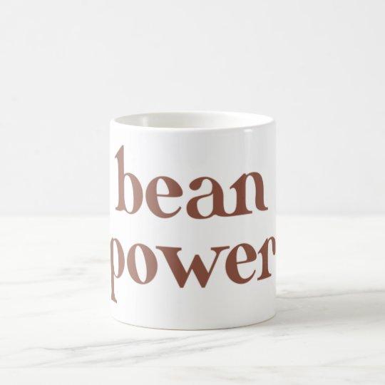 coffee bean power kaffeetasse