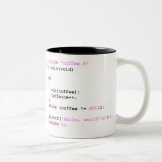 Coffee.c Programmierung Zweifarbige Tasse