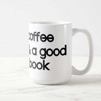 *coffee u. ein gutes Buch Kaffeetasse