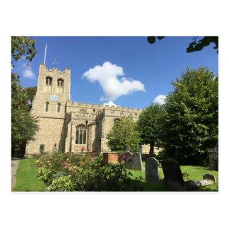 Coggeshall Kirche, Essex Postkarte