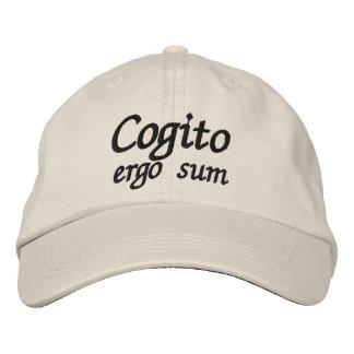 Cogito ergo Summe, die ich denke, dass deshalb ich Bestickte Kappe