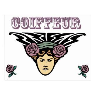 Coiffeur Postkarte