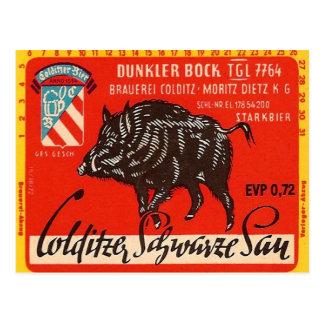 Colditzer Schwarze Sau Postkarte
