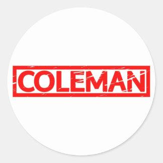 Coleman Briefmarke Runder Aufkleber