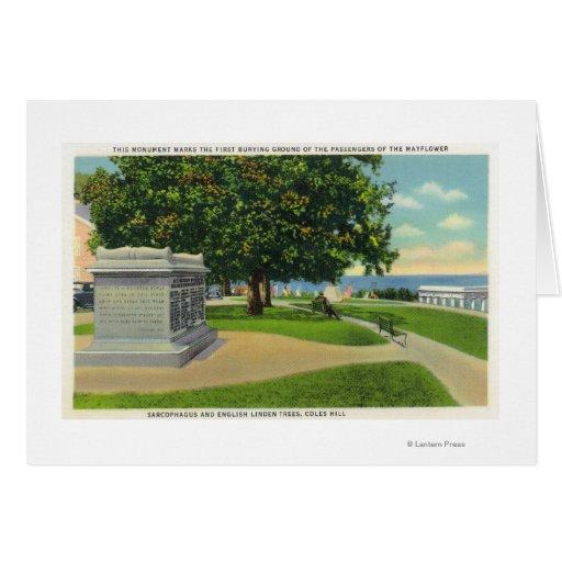 Coles-Hügel-Ansicht des Mayflower Beerdigungs-Monu Grußkarten