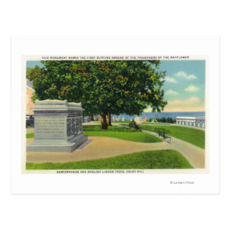 Coles-Hügel-Ansicht des Mayflower Beerdigungs-Monu Postkarten