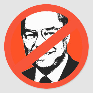 Colin Powell Runder Aufkleber