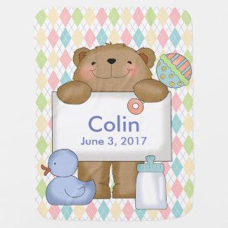 Colins gute Nachrichten tragen personalisierte Babydecken