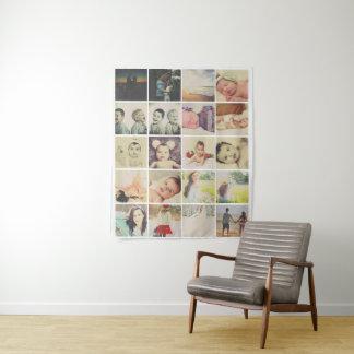 Collage der Foto-Schablonen-20 personalisiert Wandteppich