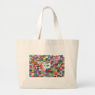 Collage der Landesflaggen von der ganzen Welt Leinentaschen