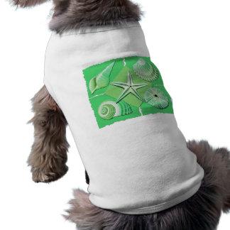 Collage der Seashells-grüner Abstufungen T-Shirt
