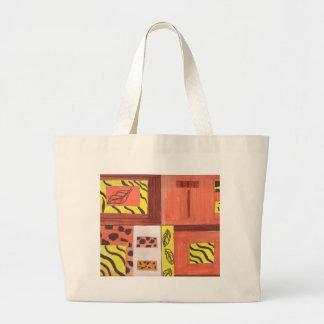 Collage des Blätter Einkaufstaschen