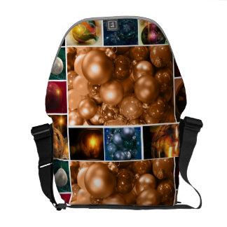 Collage des Feiertags verziert Tasche Kurier Tasche