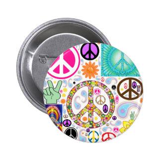 Collage des Friedens Runder Button 5,7 Cm