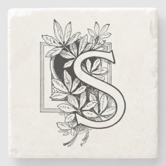 """Collage des Monogramm-Buchstabe-""""S"""" Steinuntersetzer"""