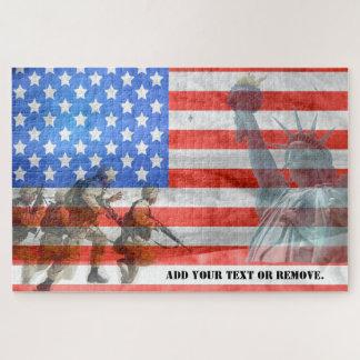 """Collage für """"den Tag des Veterans"""", """"bewaffnete Puzzle"""