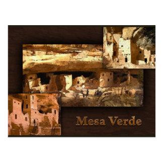 Collage MESAs Verde Postkarte