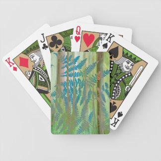 Collage von Adlerfarn-Farnen und von Wald | Bicycle Spielkarten