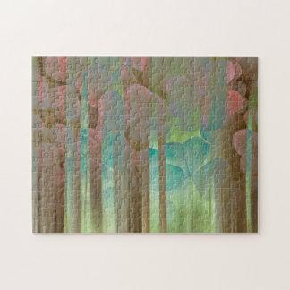 Collage von Oxalis und von Bäumen | Seabeck, WA Puzzle