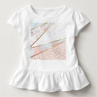 Collage, weißer Marmor, Gold, Silber, Schwarzes, Kleinkind T-shirt