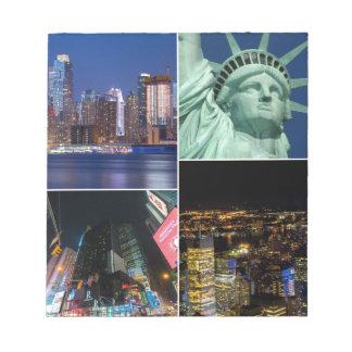 Collagen-Foto Cityscape New York City NYC Notizblock