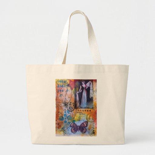 Collagen-Kunst-Taschen-Tasche