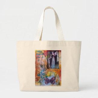 Collagen-Kunst-Taschen-Tasche Jumbo Stoffbeutel