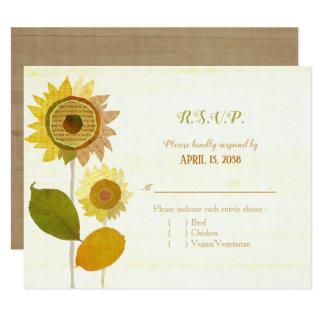 Collagen-Sonnenblumen, die Entrée Wahl UAWG Karte