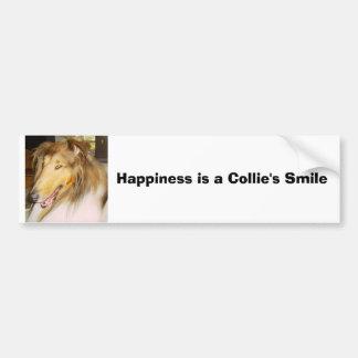 COLLIE, Glück ist das Lächeln eines Collien Autoaufkleber