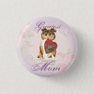 Collie-Herz-Mamma Runder Button 3,2 Cm