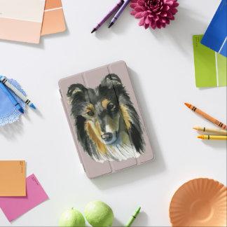 Collie-HundeAquarell-Illustration iPad Mini Hülle
