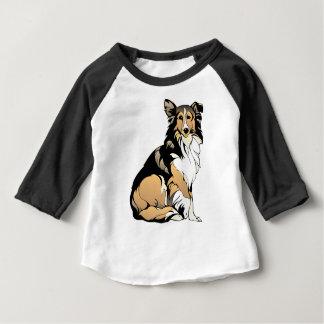 Collie-Hundezeichnen Baby T-shirt