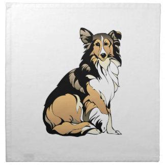 Collie-Hundezeichnen Serviette