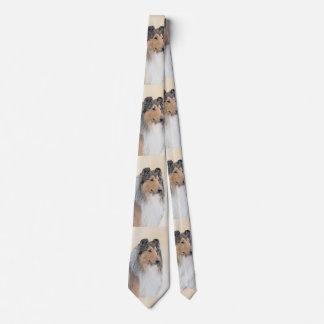 Collie-(raue) Malerei - niedliche ursprüngliche Krawatten
