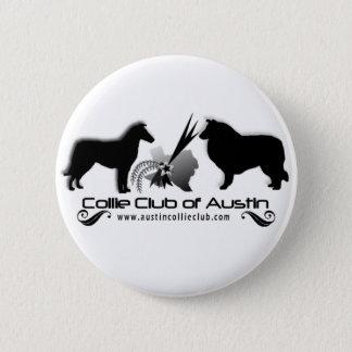 Collie-Verein von Austin-Knopf Runder Button 5,1 Cm