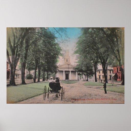 Collinsville Kirchen-Plakat