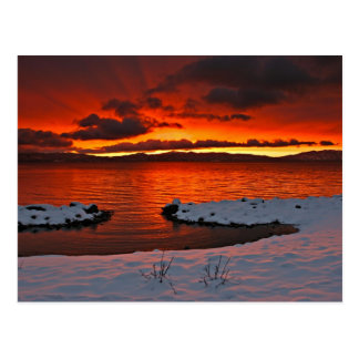 Coloful Lake Tahoe Sonnenaufgang… Postkarte