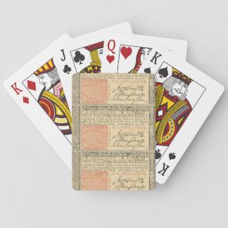 Colonial 1776 Sechs-Schilling Spielkarten