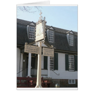 Colonial Williamsburg Zeichen Könige Arms Tavern Karte