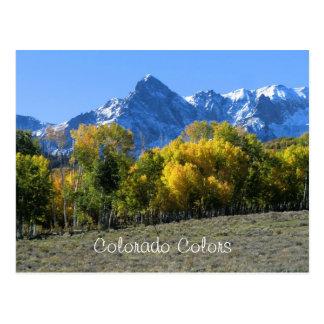 Colorado färbt Postkarte