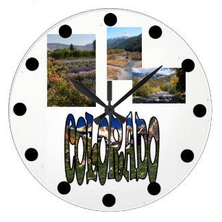 Colorado-Ferien-Schablonen-Foto-Uhr Große Wanduhr