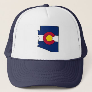 Colorado-Flagge Arizona-Konturfernlastfahrerhut Truckerkappe