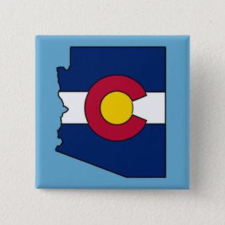 Colorado-Flagge Arizona-Konturquadrat-Buttonknopf Quadratischer Button 5,1 Cm