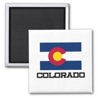 Colorado-Flagge Quadratischer Magnet
