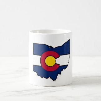 Colorado-Flagge Ohio-Konturkaffee-Tassenschale Kaffeetasse