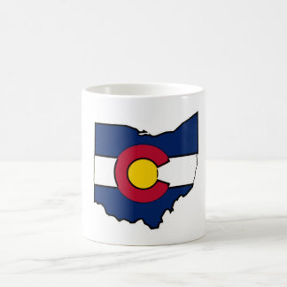 Colorado-Flagge Ohio-Konturkaffee-Tassenschale Tasse