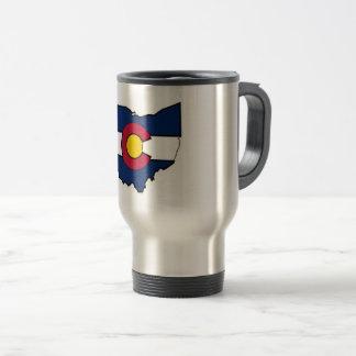 Colorado-Flagge Ohio-Konturreise-Tasse Reisebecher